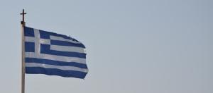 Greek Flag over Lesbos